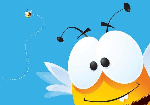 Ilustração Buzzy Bee por Nick Diggory