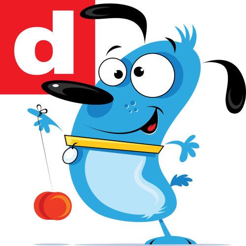 Digital Illustration of doggy playing