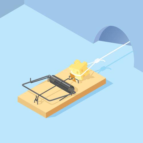 Digital Illustration mouse trap