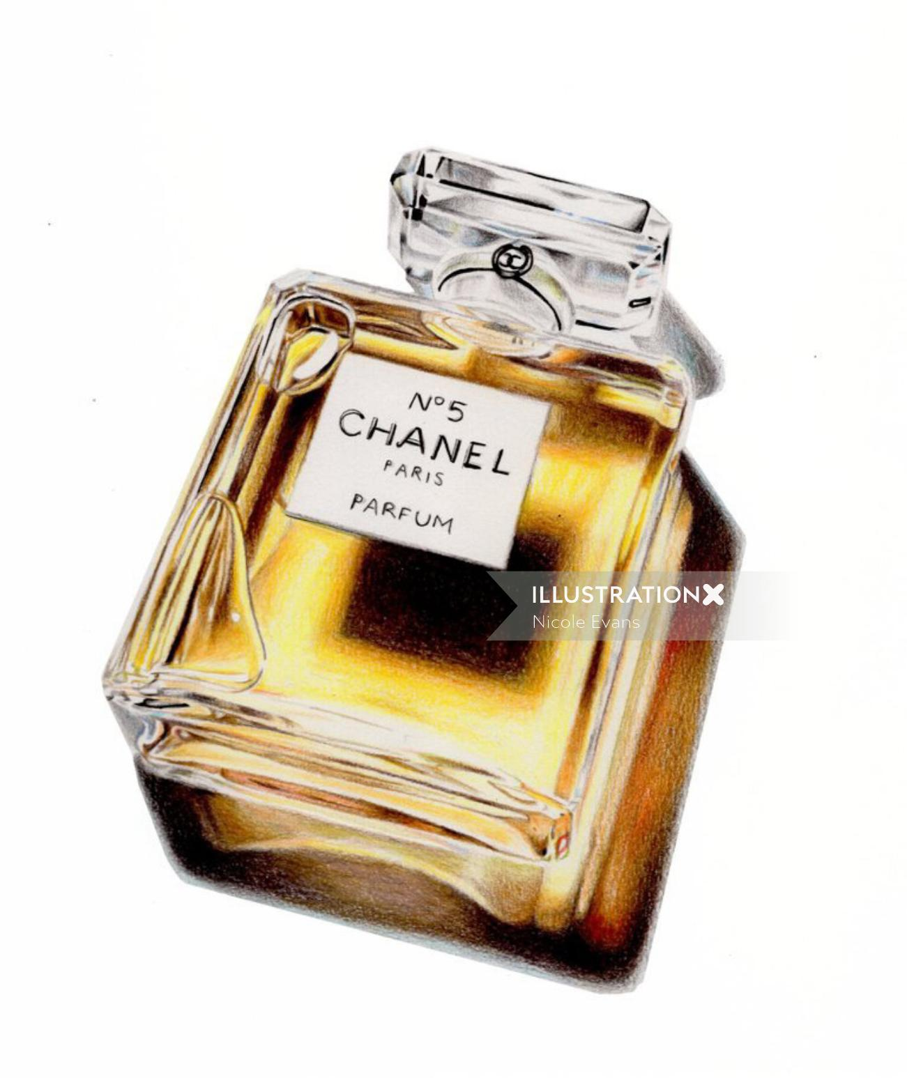 Photorealistic Painting Of Chanel Number Five