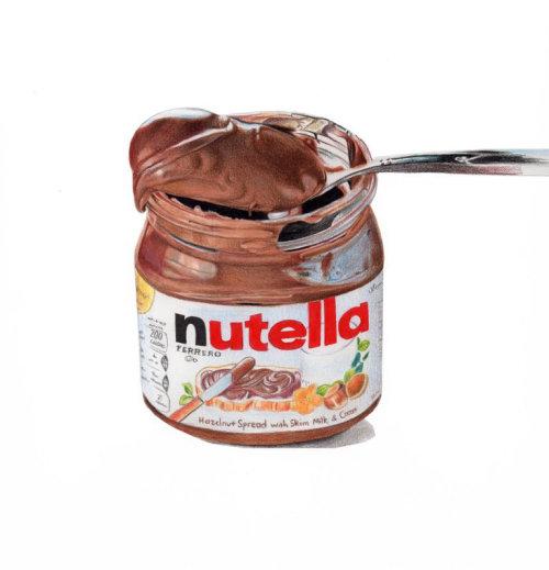 Realistic Illustration Of Nutella Jar