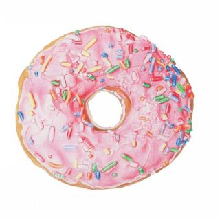 Pink sprinkles donut study