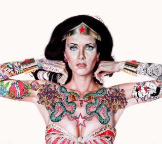 Inked-up Wonder Woman