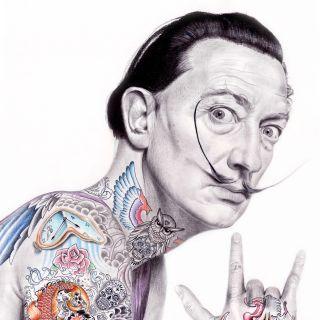 Portrait Illustration Of Salvador Dali
