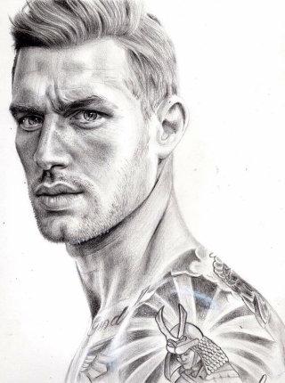 Portrait Illustration Of Chad Hurst