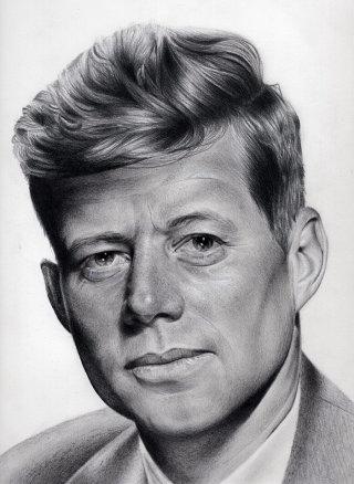John F Kennedy Portrait By Nicole Evans