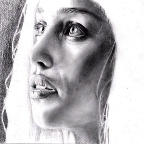 Emilia Clarke Pencil Art