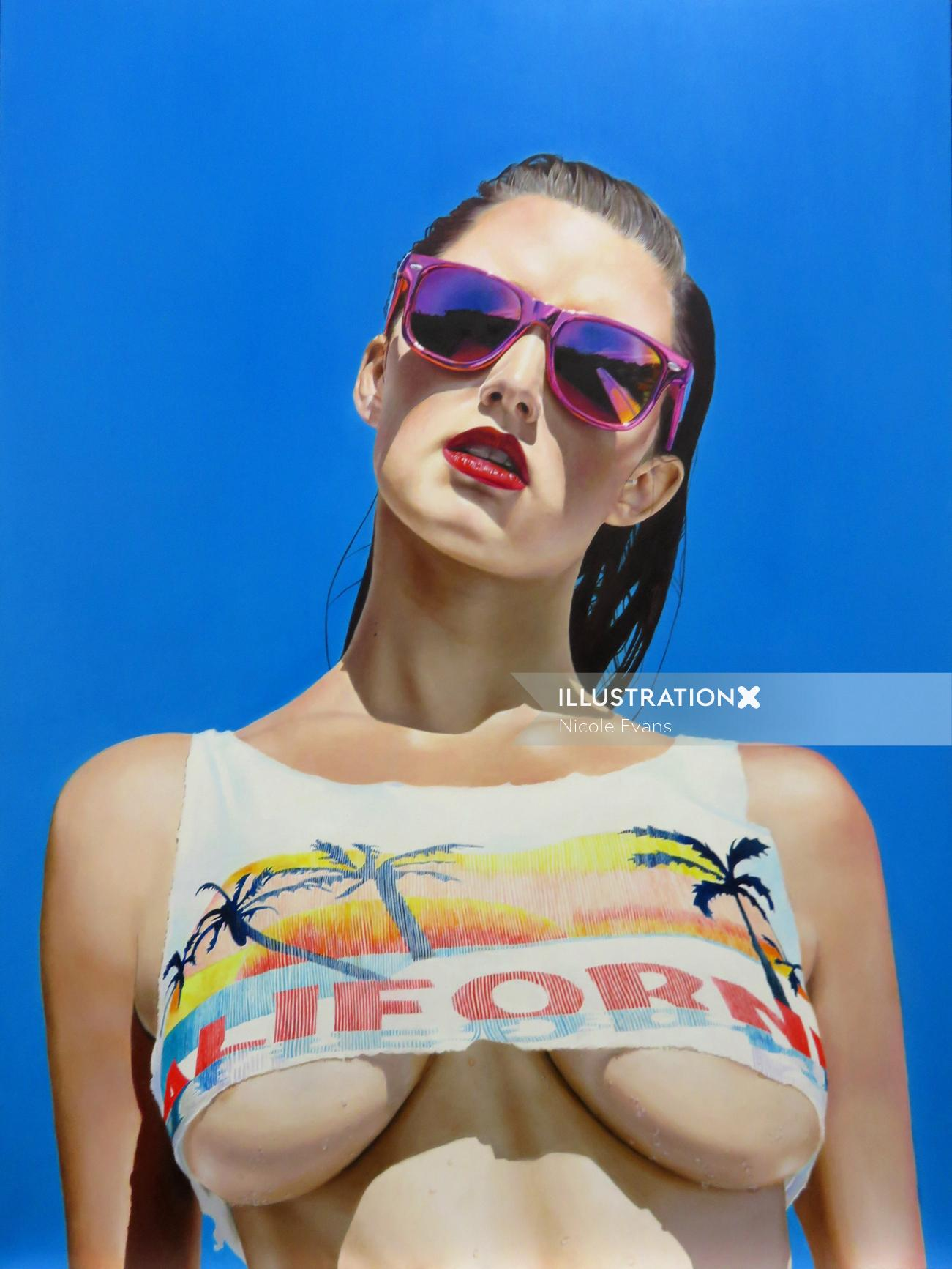 Realistic Portrait Painting By Australian Illustrator