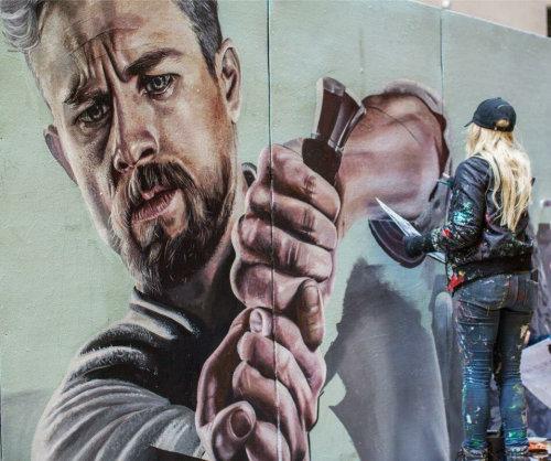 King Arthur (Charlie Hunnam) mural