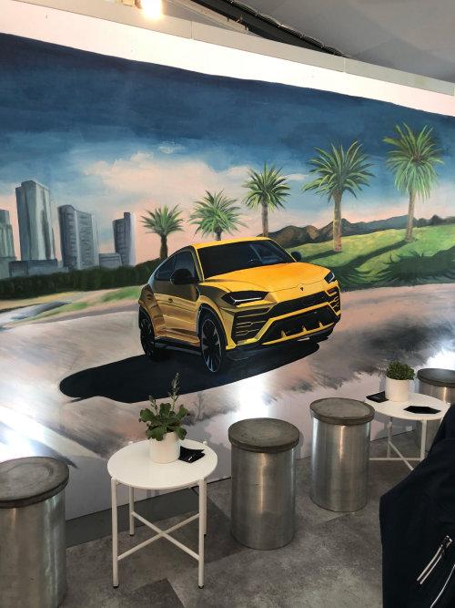 Urus Lamborghini Mural