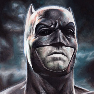 Mixed Media Portrait Of Batman