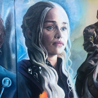 Daenerys portrait, Game of Thrones mural