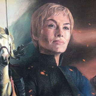 Cersei Portrait, Game of Thrones hand painted mural