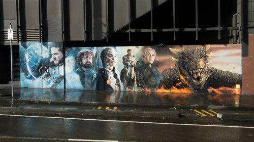 Game of Thrones hand painted mural