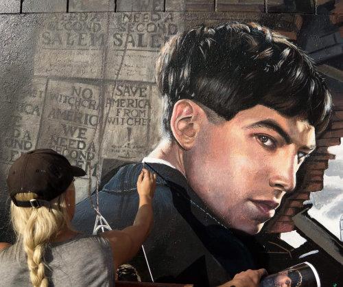 Portrait in progress of Ezra Miller for Fantastic Beasts,