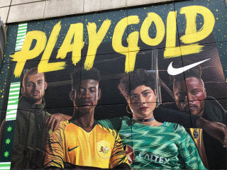 Nike 2018 World Cup mural