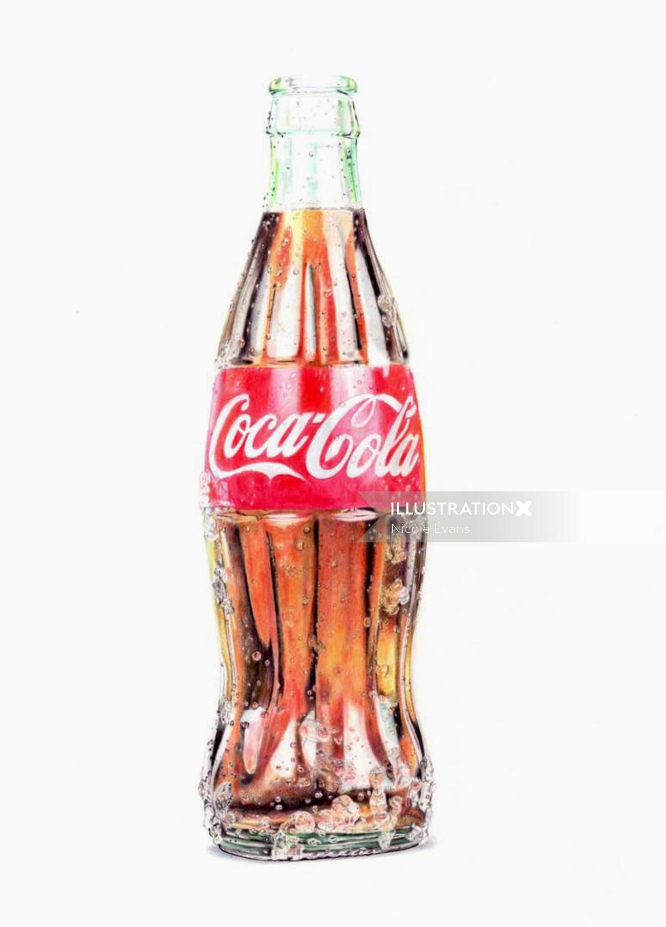 Pencil Drawing Of Coca Cola Bottle
