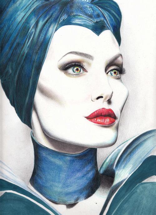Angelina Jolie Character Art
