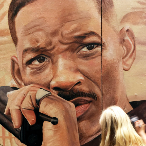 Mural Netflix Bright Will Smith