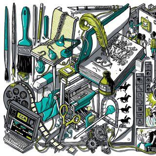 Isometric mural illustration by Nigel Sussman