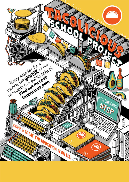 Tacolicious school project illustration