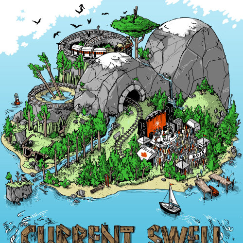 Current Swell Summer 2015 Tour Poster