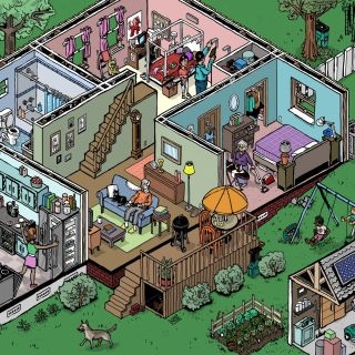 isometric home drawing