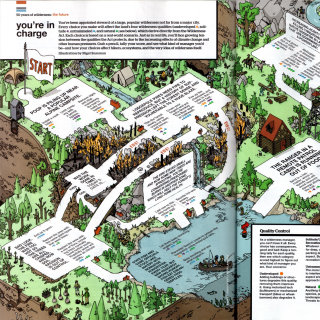 isometric forest environmentalist quiz game
