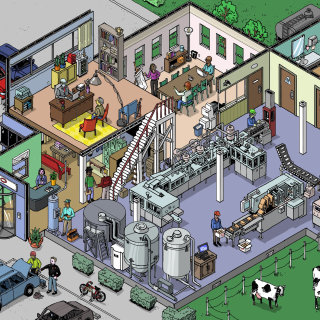 isometric factory drawing