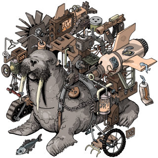isometric machine for washing a walrus
