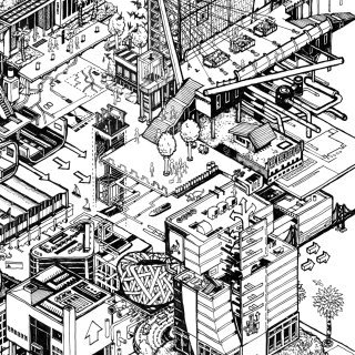 isometric fantasy architecture