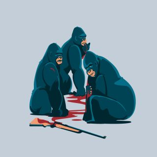 gorilla, ape, monkey, animals, wildlife, ecology, protection, africa, rifle, blood, kongo, wwf