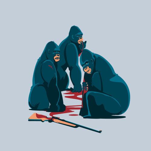 狩猎大猩猩的社论插图