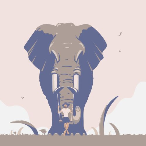 Digital painting of Elephant