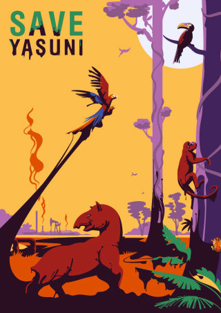 yasuni, national, park, ecology, macaw, parrtot, red howler monkey, tapir, oil, tree, tropical,  pos