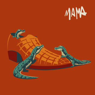 mama, mother, shoe, crocs, crocodile, red, sadness, ecology
