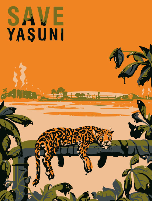 Conception d'affiche de couverture pour le parc national Save Yasuni