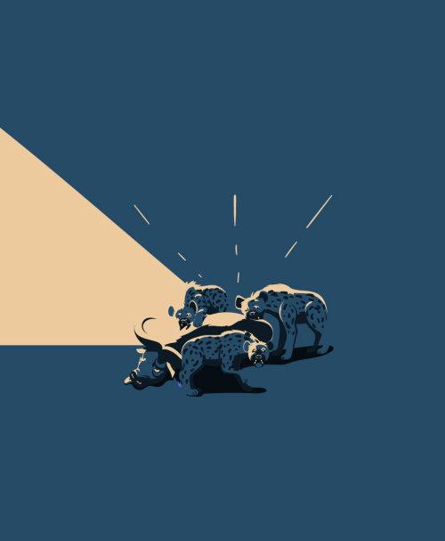鬣狗野生动物插图由Nikolai Senin