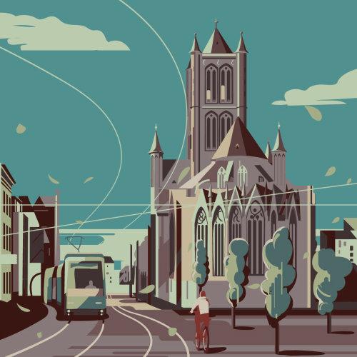 比利时根特市图形设计