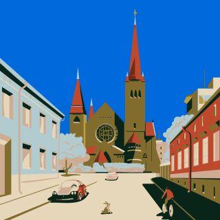 travel, Finland, suomi, church, europe, scandinavia, car, old