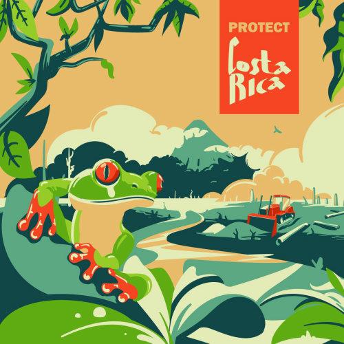 Costa rica poster design by Nikolai Senin