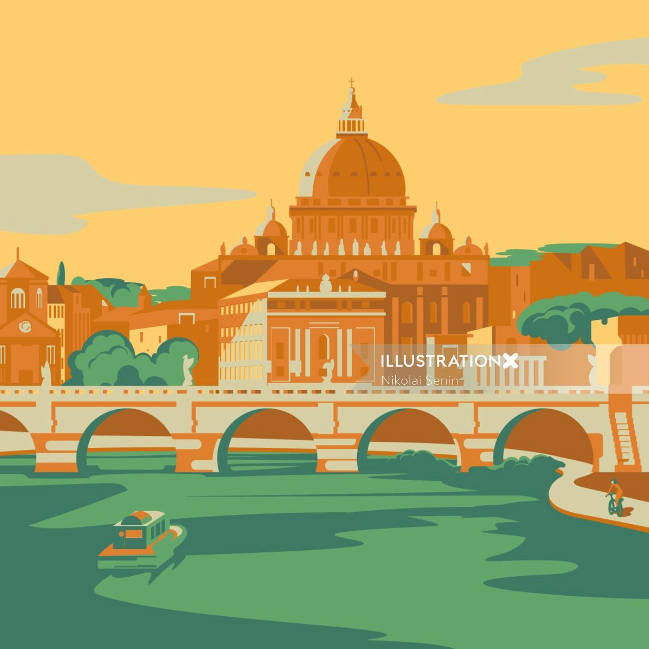 Poster design of Rome