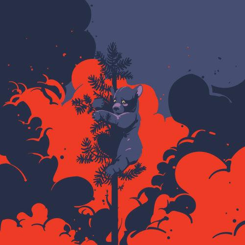 西伯利亚的图形设计着火了