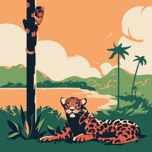 Illustration graphique de jaguar