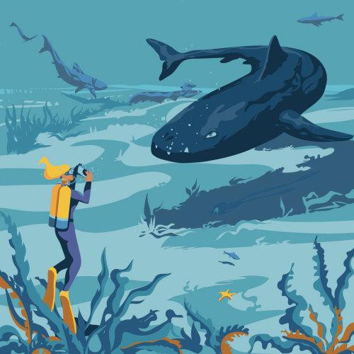 Plonger avec des créatures préhistoriques