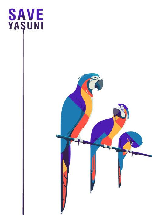 拯救鸟类的海报设计
