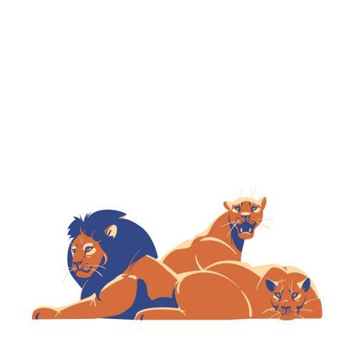 Lions portrait artwork