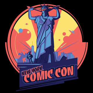 comic, statue, liberty, new york, usa, america, comics