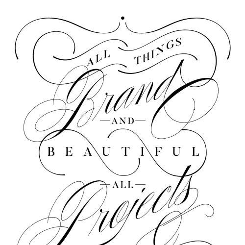Decorative Typography Piece illustration