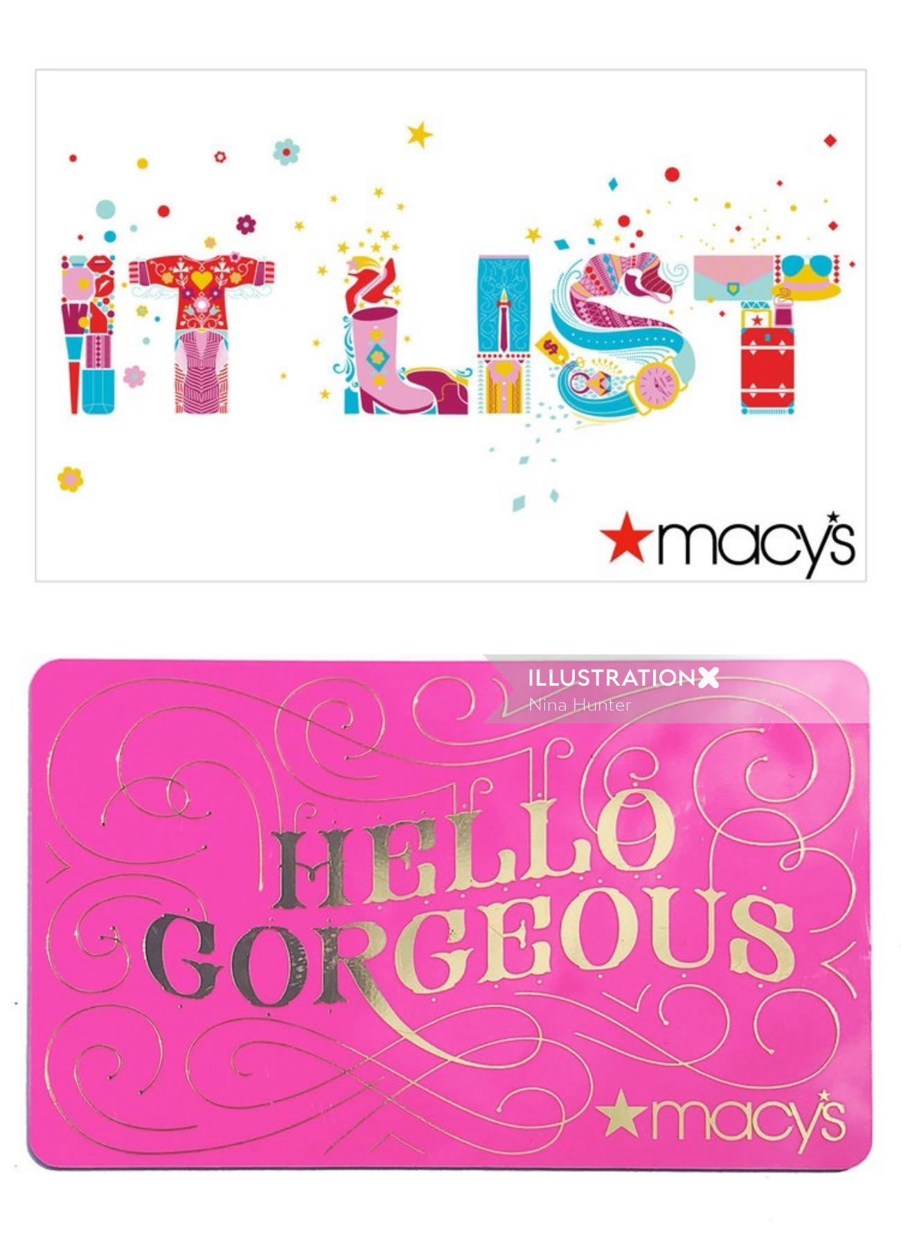 Graphic design of Macy's Gift Card